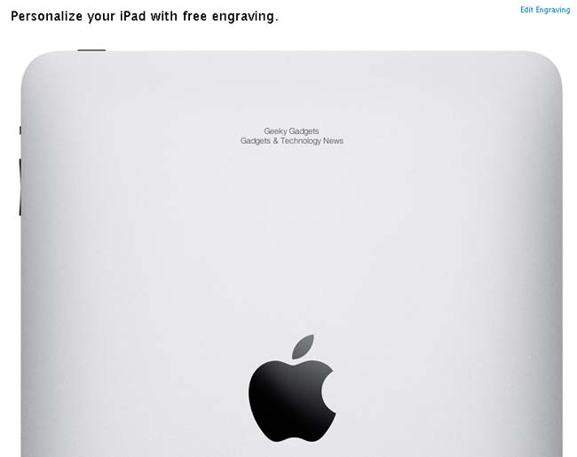 iPad Engraving
