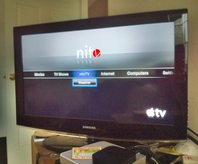 First App Installed On Jailbroken Apple TV, NitoTV