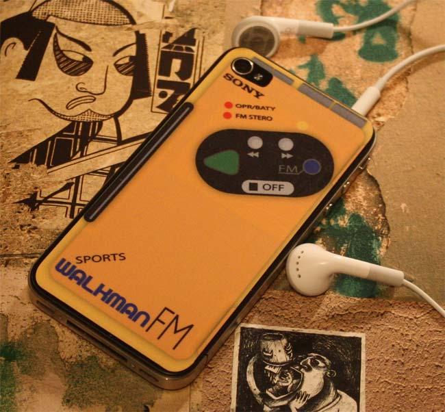 Sony Walkman iPhone 4 Decal