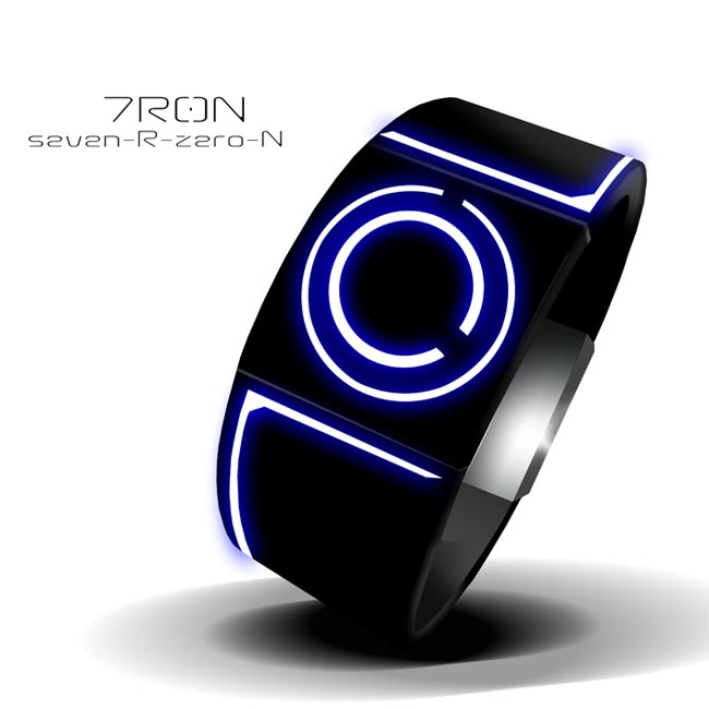 Tron Inspired LED Watch