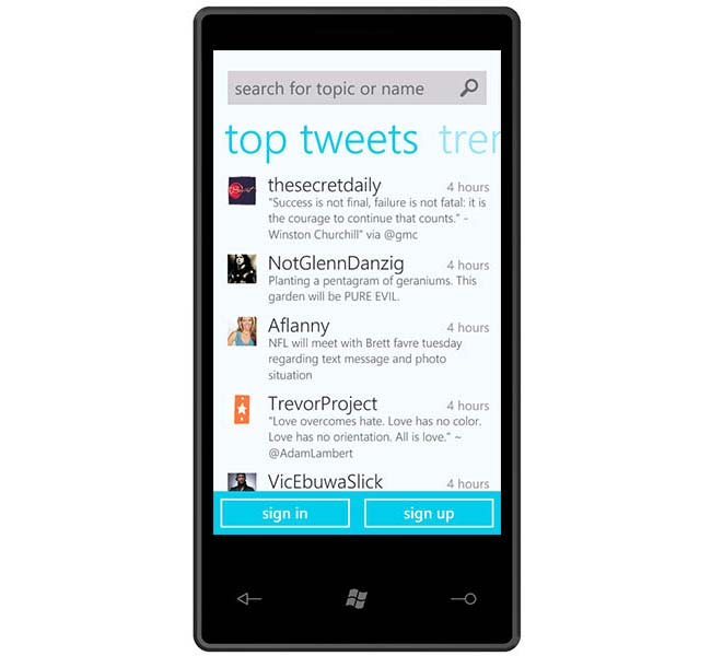 Twitter Windows Phone 7