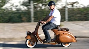Wooden Vespa Scooter