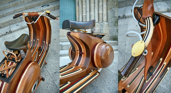 Wooden Vespa