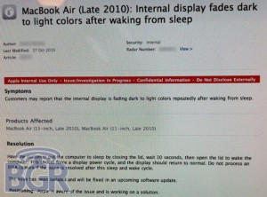 Apple Confirms MacBook Air Display Issues