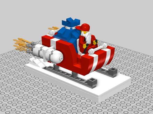 DIY Lego Santa