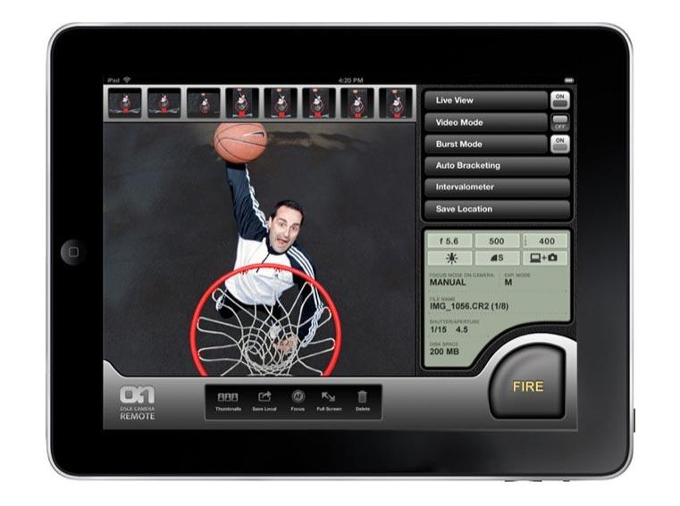 DSLR Camera Remote App For iPad