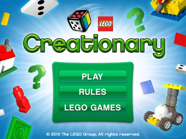 Lego Creationary iPad App Released