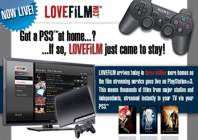 PS3 Lovefilm