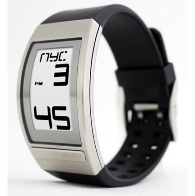 Phosphor World Time Curved E Ink Watch