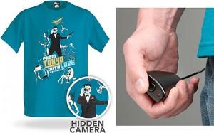 Spy T-Shirt Conceals Hidden Camera