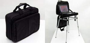Thanko Laptop Bag Coverts To A Desk