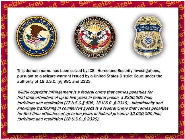 US Goverment Seizes BitTorrent Sites
