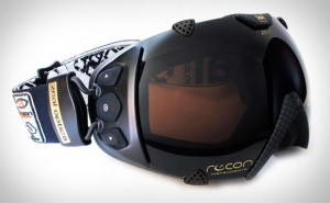 Ski Goggles Equipped With Heads Up Display And GPS