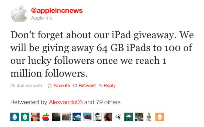 Apple iPad Giveaway