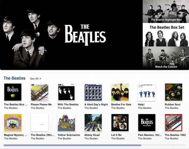 Beatles iTunes Catalog