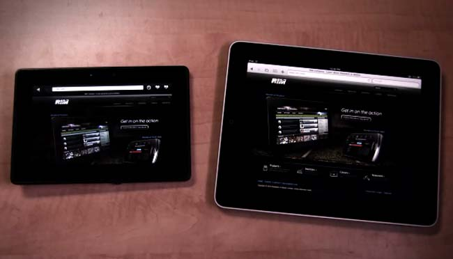 Blackberry Playbook vs Apple iPad