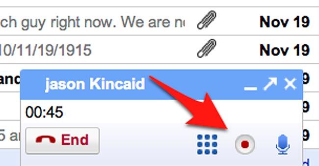 gmail call recording