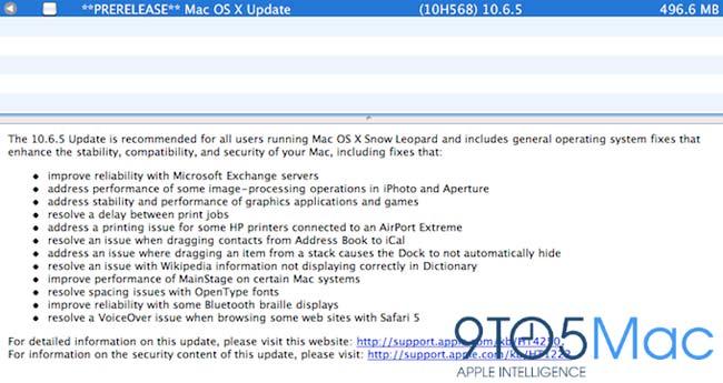 Mac OS X 10.6.5