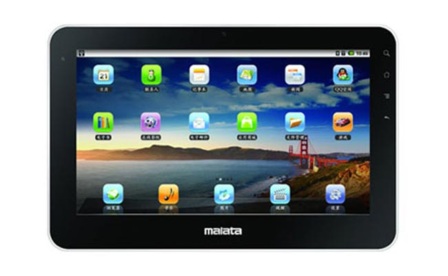 Other specifications in the Malata T2 include a 10 inch touchscreen