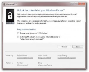ChevronWP7 Windows Phone 7 Hack