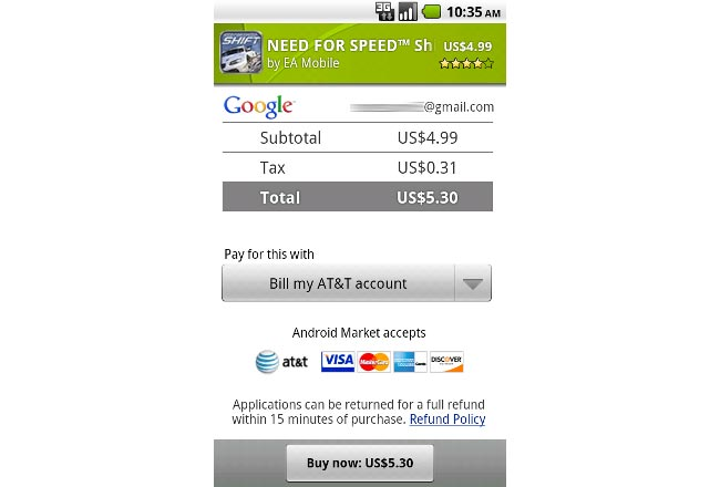 Android App Driect To ATT