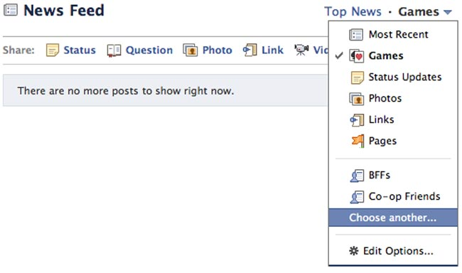 Facebook Redesigns News Feed Filtering Options