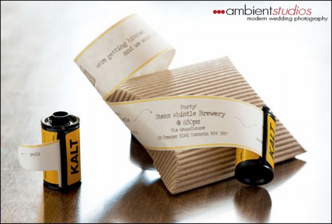 Film Roll invitation
