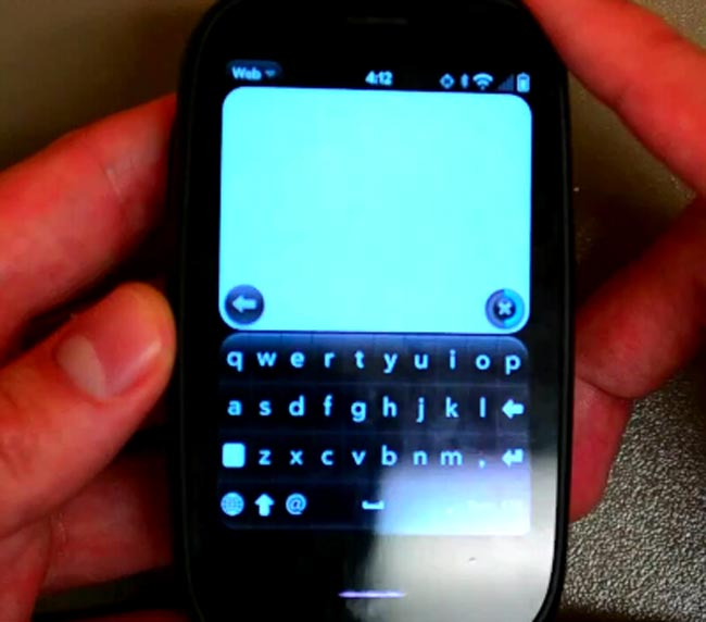 Palm webOS 2.0 Virtual Keyboard