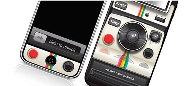 Polaroid iPhone 4 Decal