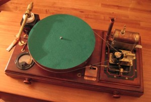 Steampunk Steam Powered Turntable (video)