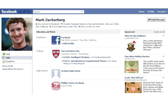 Zuckerberg Reveals A New Look For Facebook