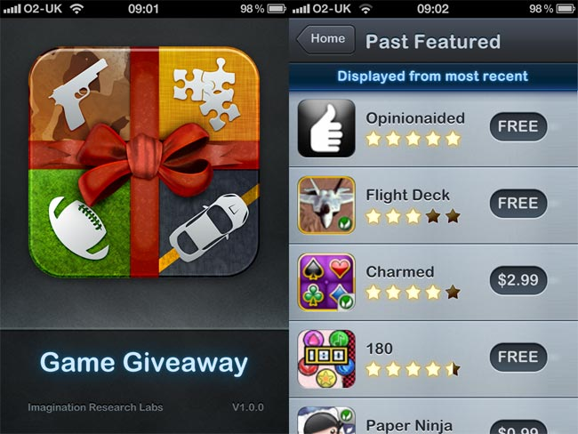 Game Giveaway iPhone