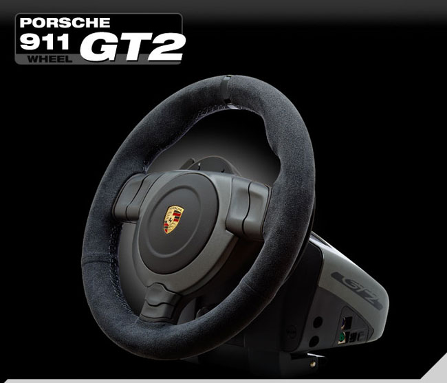 fanatec porsche 911 gt2 racing wheel now available geeky gadgets. Black Bedroom Furniture Sets. Home Design Ideas