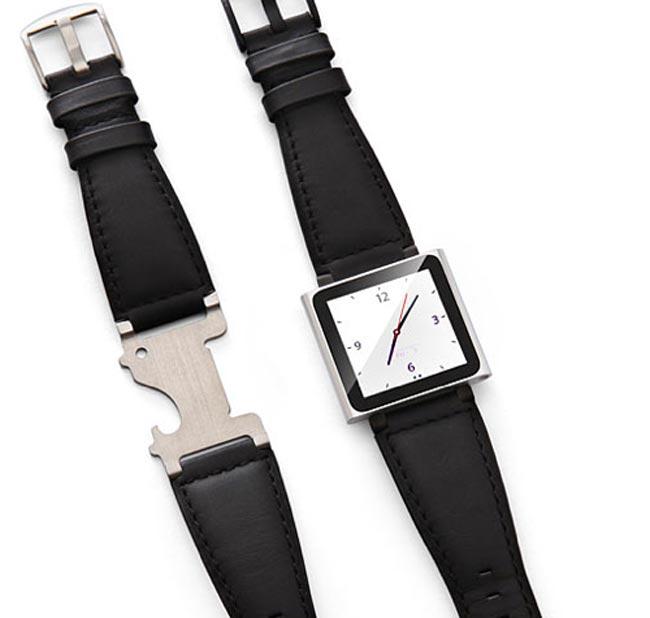 ipod nano bottle opener watch strap