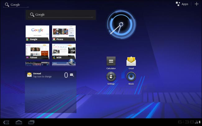 Android 3.0 Honeycomb UI