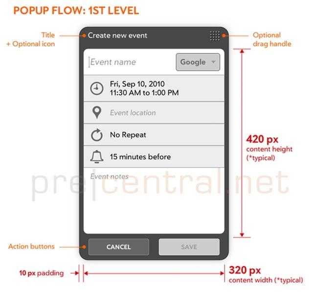 HP webOS Tablet UI