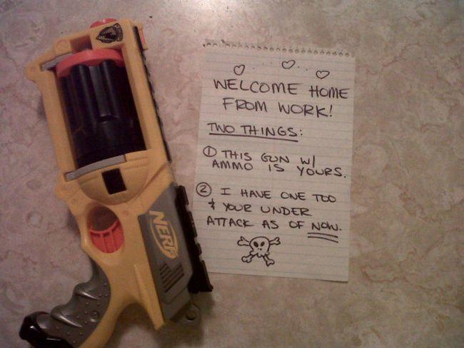 Nerf Gun marriage