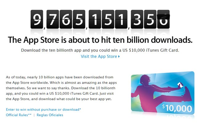 Apple's App Store Close To 10 Billion Downloads