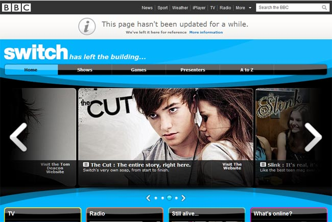 Among the sites to face the axe in the BBC's online cuts include the teen ...