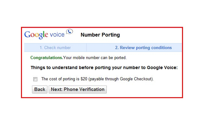 google number porting