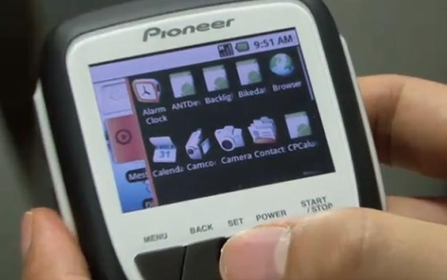 Pioneer's Prototype Cycling Computer Is Powered By Google Android