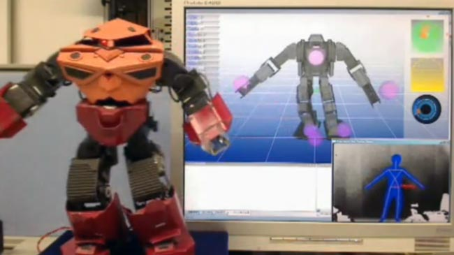 Microsoft Kinect Controlled Humanoid Robot