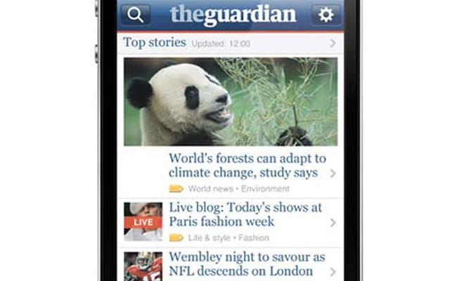 The Guardian iPhone