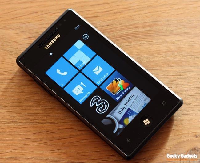 Windows Phone 7 Smartphone