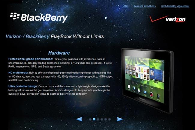 BlackBerry PlayBook Headed To Verizon?