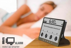 IQ Alarm Clock Quizzes Your Brain Awake