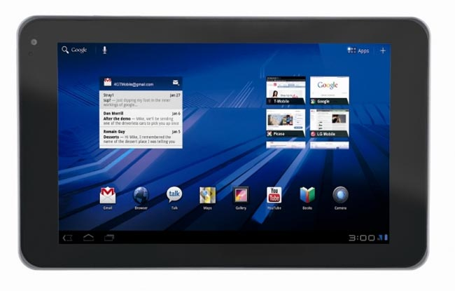 LG G-Slate Honeycomb Tablet