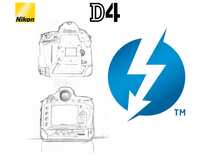 Nikon D4 Supporting Thunderbolt
