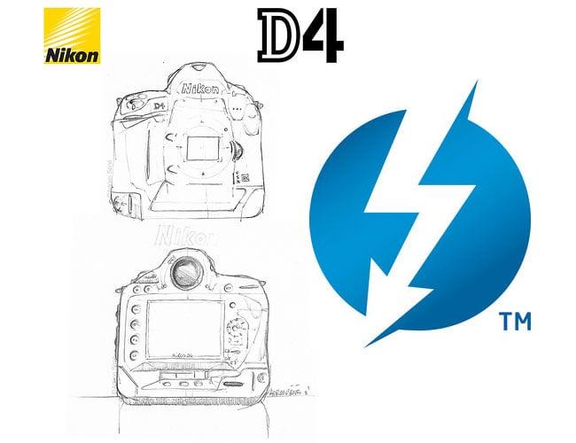 Nikon D4 Supporting Thunderbolt