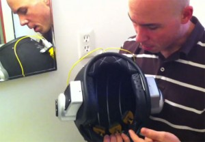 Shaving Helmet Gives Super Close Shave If You Are Brave Enough (video)